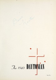 Page 5, 1940 Edition, University of Dayton - Daytonian Yearbook (Dayton, OH) online yearbook collection