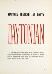 Page 7, 1940 Edition, University of Dayton - Daytonian Yearbook (Dayton, OH) online yearbook collection