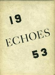 1953 Edition, York High School - Echoes Yearbook (Bellevue, OH)
