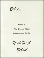 Page 5, 1955 Edition, York High School - Echoes Yearbook (Bellevue, OH) online yearbook collection
