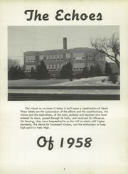 Page 6, 1958 Edition, York High School - Echoes Yearbook (Bellevue, OH) online yearbook collection