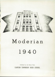 Page 5, 1940 Edition, Canton Township High School - Moderian Yearbook (Canton, OH) online yearbook collection
