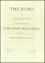 Page 9, 1928 Edition, West Night High School - Echo Yearbook (Cincinnati, OH) online yearbook collection