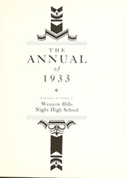 Page 5, 1933 Edition, West Night High School - Echo Yearbook (Cincinnati, OH) online yearbook collection