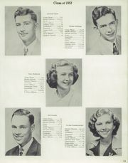 Page 17, 1952 Edition, Homer High School - Cavalier Yearbook (Homerville, OH) online yearbook collection
