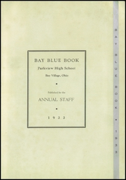 Page 5, 1933 Edition, Parkview High School - Bay Blue Book Yearbook (Bay Village, OH) online yearbook collection