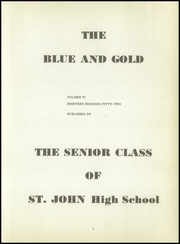 Page 5, 1952 Edition, St John High School - Blue Gold Yearbook (Maria Stein, OH) online yearbook collection