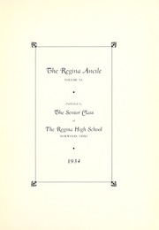 Page 7, 1934 Edition, Regina High School - Regina Ancile Yearbook (Norwood, OH) online yearbook collection
