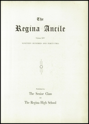 Page 7, 1942 Edition, Regina High School - Regina Ancile Yearbook (Norwood, OH) online yearbook collection