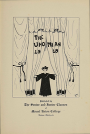 Page 3, 1919 Edition, Mount Union College - Unonian Yearbook (Alliance, OH) online yearbook collection