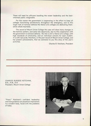 Page 11, 1942 Edition, Mount Union College - Unonian Yearbook (Alliance, OH) online yearbook collection