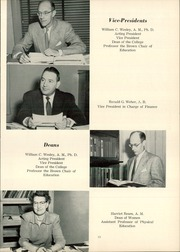 Page 17, 1954 Edition, Mount Union College - Unonian Yearbook (Alliance, OH) online yearbook collection