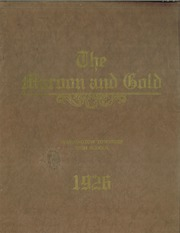 1926 Edition, Washington Township High School - Maroon and Gold Yearbook (Iberia, OH)