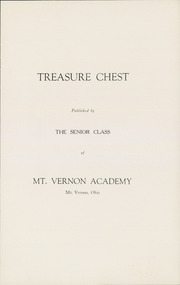 Page 5, 1932 Edition, Mount Vernon Academy - Treasure Chest Yearbook (Mount Vernon, OH) online yearbook collection