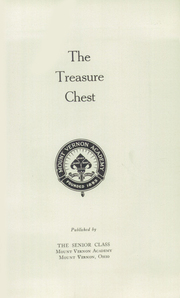 Page 5, 1935 Edition, Mount Vernon Academy - Treasure Chest Yearbook (Mount Vernon, OH) online yearbook collection
