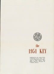 Page 5, 1951 Edition, Bowling Green State University - Key Yearbook (Bowling Green, OH) online yearbook collection