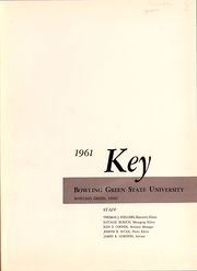 Page 2, 1961 Edition, Bowling Green State University - Key Yearbook (Bowling Green, OH) online yearbook collection