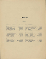 Page 5, 1899 Edition, College of Wooster - Index Yearbook (Wooster, OH) online yearbook collection
