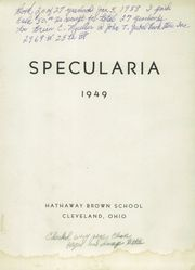 Page 3, 1949 Edition, Hathaway Brown School - Specularia Yearbook (Cleveland, OH) online yearbook collection