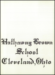 Page 5, 1959 Edition, Hathaway Brown School - Specularia Yearbook (Cleveland, OH) online yearbook collection
