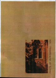 Page 1, 1974 Edition, John Carroll University - Carillon Yearbook (University Heights, OH) online yearbook collection