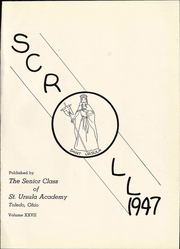 Page 5, 1947 Edition, Saint Ursula Academy - Scroll Yearbook (Toledo, OH) online yearbook collection