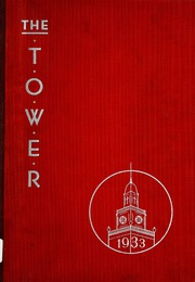 1933 Edition, Christ Hospital School of Nursing - Tower Yearbook (Cincinnati, OH)