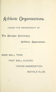 Page 103, 1891 Edition, Denison University - Adytum Yearbook (Granville, OH) online yearbook collection