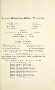 Page 105, 1891 Edition, Denison University - Adytum Yearbook (Granville, OH) online yearbook collection