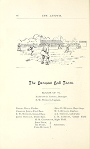 Page 106, 1891 Edition, Denison University - Adytum Yearbook (Granville, OH) online yearbook collection