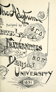 Page 17, 1891 Edition, Denison University - Adytum Yearbook (Granville, OH) online yearbook collection
