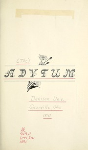 Page 9, 1891 Edition, Denison University - Adytum Yearbook (Granville, OH) online yearbook collection