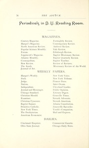 Page 96, 1891 Edition, Denison University - Adytum Yearbook (Granville, OH) online yearbook collection