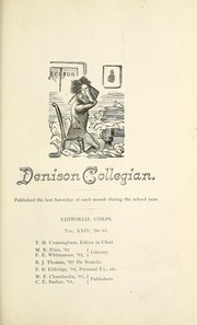 Page 99, 1891 Edition, Denison University - Adytum Yearbook (Granville, OH) online yearbook collection