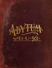 Denison University - Adytum Yearbook (Granville, OH) online yearbook collection, 1893 Edition, Page 1