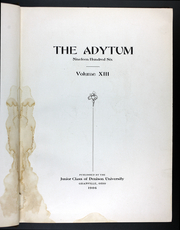 Page 7, 1906 Edition, Denison University - Adytum Yearbook (Granville, OH) online yearbook collection