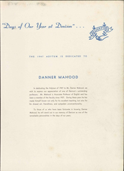 Page 11, 1947 Edition, Denison University - Adytum Yearbook (Granville, OH) online yearbook collection