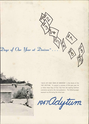 Page 9, 1947 Edition, Denison University - Adytum Yearbook (Granville, OH) online yearbook collection