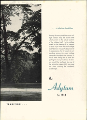 Page 9, 1950 Edition, Denison University - Adytum Yearbook (Granville, OH) online yearbook collection