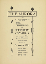 Page 3, 1901 Edition, Heidelberg University - Aurora Yearbook (Tiffin, OH) online yearbook collection