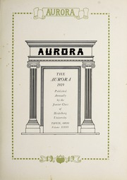 Page 5, 1919 Edition, Heidelberg University - Aurora Yearbook (Tiffin, OH) online yearbook collection