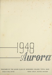 Page 5, 1948 Edition, Heidelberg University - Aurora Yearbook (Tiffin, OH) online yearbook collection