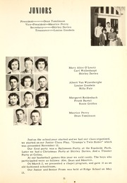 Page 15, 1949 Edition, Ridge High School - Reflector Yearbook (Van Wert, OH) online yearbook collection