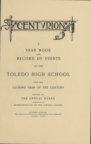 Page 5, 1900 Edition, Central High School - Almanac Yearbook (Toledo, OH) online yearbook collection