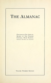 Page 7, 1914 Edition, Central High School - Almanac Yearbook (Toledo, OH) online yearbook collection