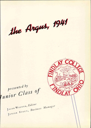 Page 9, 1941 Edition, University of Findlay - Argus Yearbook (Findlay, OH) online yearbook collection