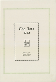 Page 9, 1922 Edition, Bluffton University - Ista Yearbook (Bluffton, OH) online yearbook collection
