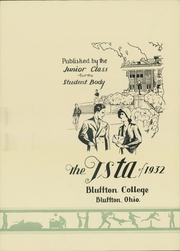 Page 7, 1932 Edition, Bluffton University - Ista Yearbook (Bluffton, OH) online yearbook collection