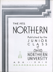 Page 6, 1932 Edition, Ohio Northern University - Northern Yearbook (Ada, OH) online yearbook collection