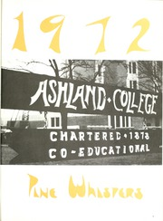 Page 5, 1972 Edition, Ashland University - Pine Whispers Yearbook (Ashland, OH) online yearbook collection